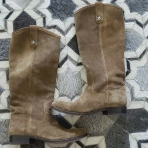 frye melissa button suede boots